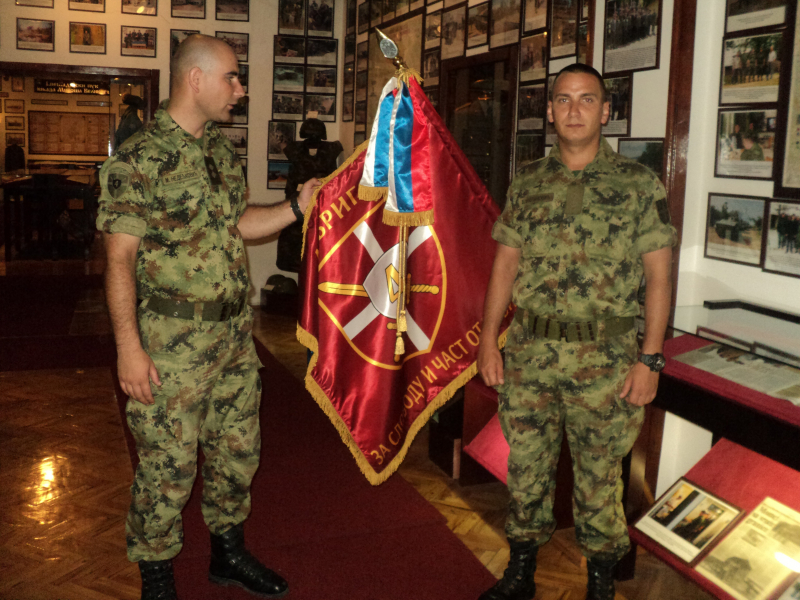 Nedeljković i Šćepanović u Spomen sobi 4. brigade. Foto: S.Tasić/OK Radio