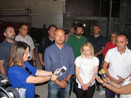 Obilazak treće faze rekonstrukcije FOTO: D. Ristić/OK Radio