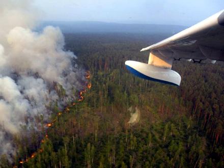 Ruska vojska u borbi protiv vatrene stihije FOTO: AP