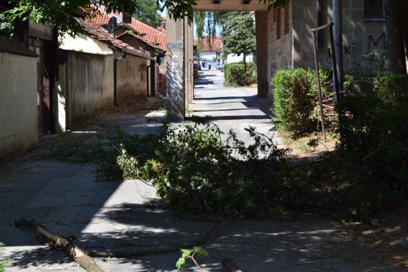 Ružan prizor u centru Vranja. Foto: G.Mitić/OK Radio