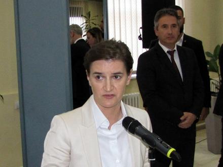Premijerka Brnabić prilikom posete Vranju. Foto: D.Ristić/OK Radio