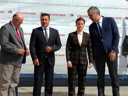 Branabić i Zaev označili početak rada integrisanog prelaza FOTO: OK Radio