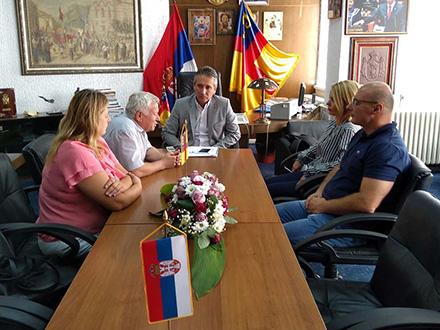 Sa sastanka kod gradonačelnika. Foto: vranje.org.rs