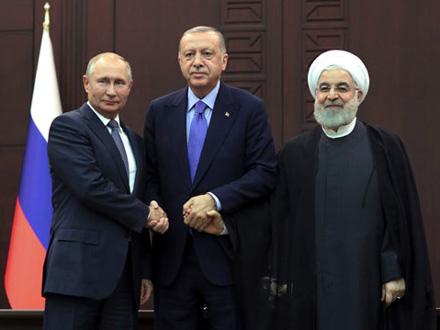 Trilateralni sastanak Turske, Rusije i Irana o Siriji FOTO: AP