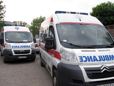 Povređeni prebačeni u KC Niš FOTO: D. Ristić/OK Radio