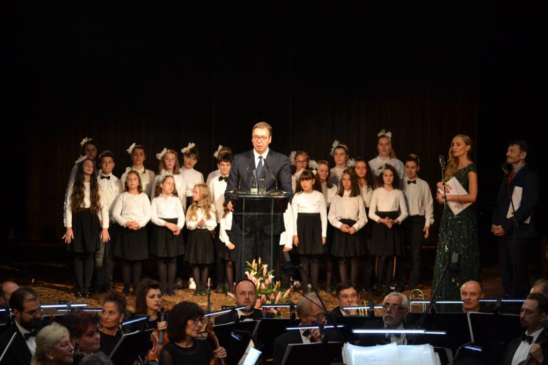 Predsednik Aleksandar Vučić na svečanosti FOTO: G. Mitić/OK Radio