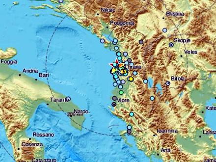 Albaniju pogodila serija slabijih potresa FOTO: EMSC