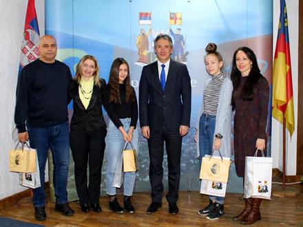 Prijem u kabinetu gradnačelnika Vranja FOTO: vranje.org.rs