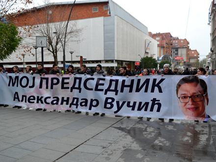 Skup krenuo iz centra Vranja FOTO: G. Mitić/OK Radio