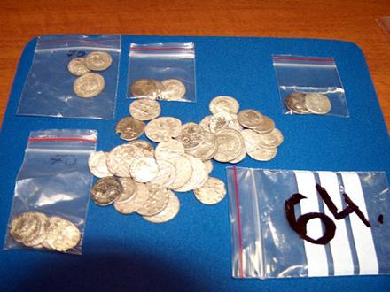Novčići čiji je šverc iz Srbije sprečen FOTO: MUP