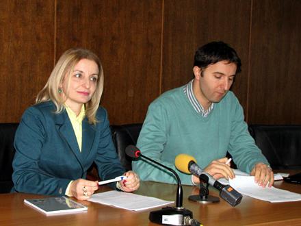 Većnici za informisanje i finansije, Zorica Jović i Bojan Kostić FOTO: D. Ristić/OK Radio