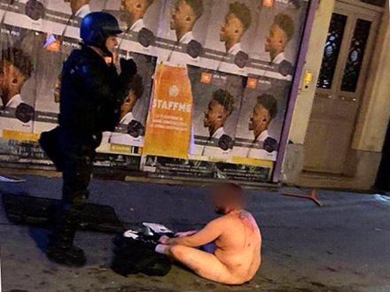 Palo čak i skidanje ljudi do gole kože FOTO: Twitter