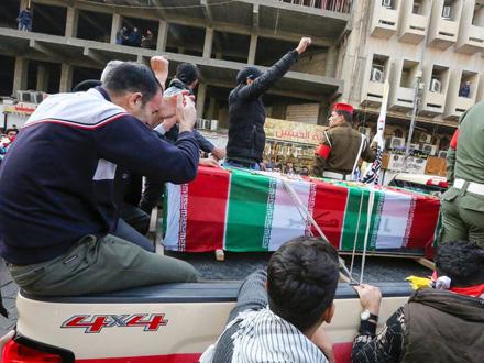 Pogrebna povorka u Bagdadu FOTO: AFP