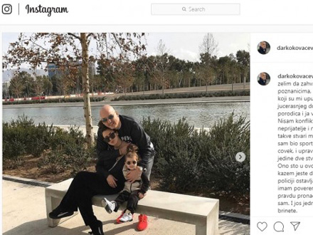 Veruje u pravdu i grčku policiju FOTO. Instagram/screenshot