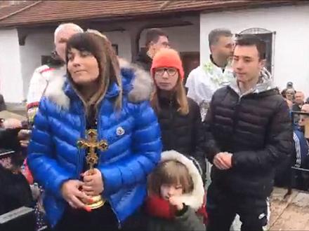 Marijana Dimitrijević sa porodicom FOTO: Facebook/Slobodan Stojković