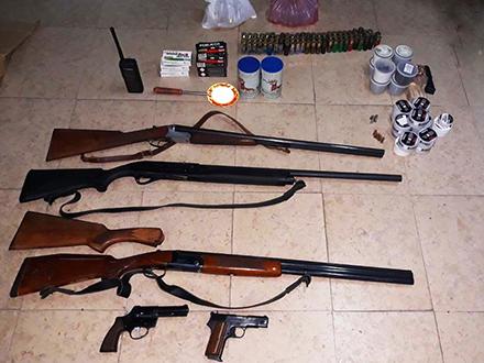 Zaplenjeno oružje. Foto: MUP