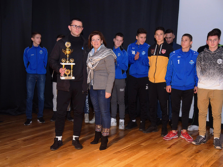 Sa dodele priznanja. Foto: FK Radnik