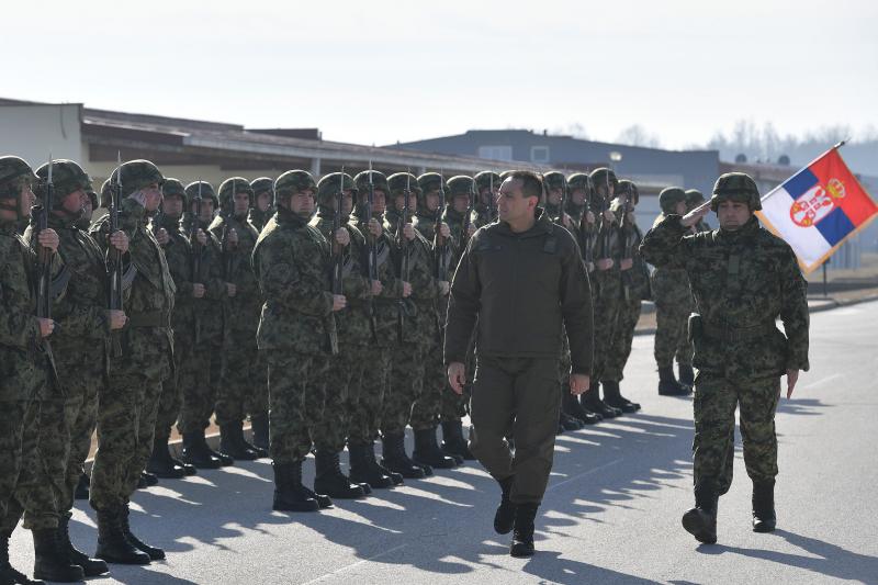 Ministar Vulin u poseti bazi Jug. FOTO: MOD