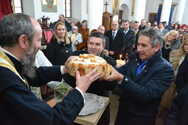 Sa Liturgije u Sabornom hranu. Foto: G.Mitić/OK Radio