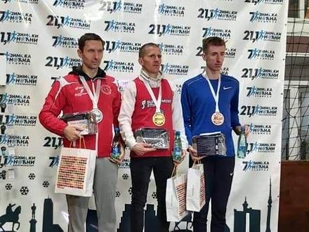 Kristijan na postolju FOTO: AK Vranjski maratonci