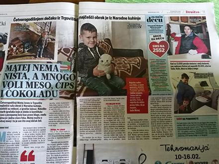 Pomoć putem SMS ili uplatom na račun. Foto: S.Tasić/OK Radio