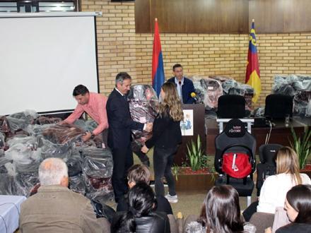 Uručenje sedišta biće organizovano kvartalno FOTO: vranje.org.rs