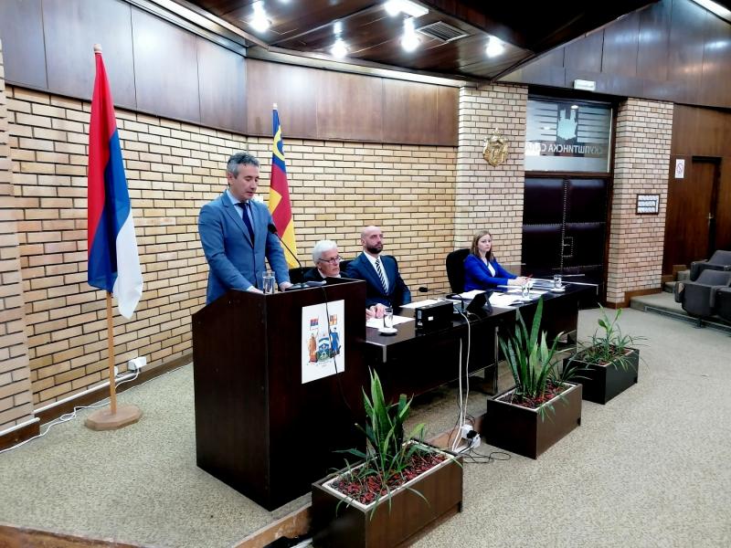 Gradonačelnik podneo izveštaj. Foto: vranje.org.rs