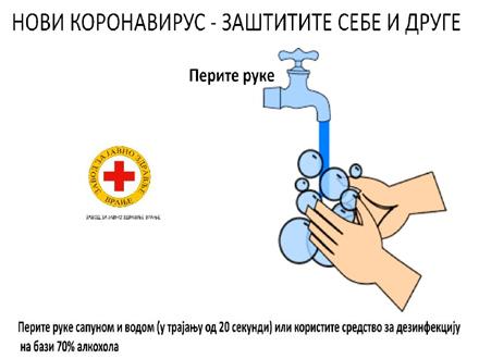 Osnovne mere u suzbijanju širenja zaraze FOTO: ZZJZ Vranje