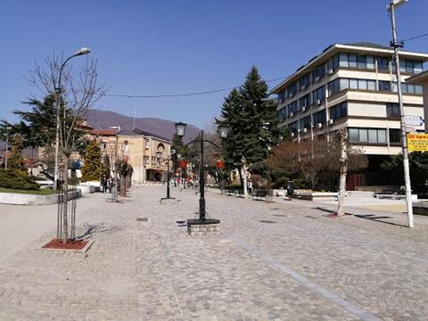 Centar Vranja u doba korone. Foto: S.Tasić/OK Radio