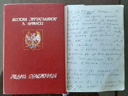 Dnevnik potpukovnika Dimčevskog. Foto: S.Tasić/OK Radio