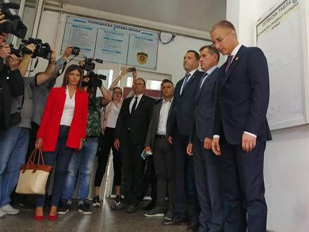 Ministar Stefanović prilikom posete Vranju. Foto: S.Tasić/OK Radio