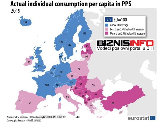 """Podaci o """"stvarnoj individualnoj potrošnji"""" (AIC) FOTO: Screenshot"""