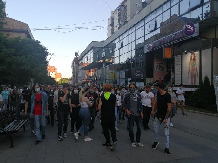 Protesti u Vranju. Foto: S.Tasić/OK Radio