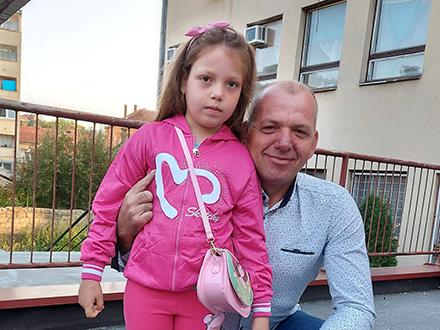 Miljana Anđelković sa ocem: Foto: FB