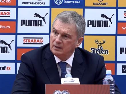 Tumbaković saopštio je spisak igrača FOTO: FSS/screenshot