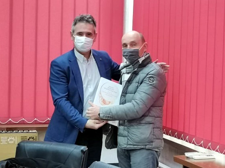Milenković i Branimir Stošić Kace FOTO: vranje.org.rs