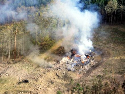 U eksploziji je uništeno udaljeno skladište municije u šumi FOTO: BBC