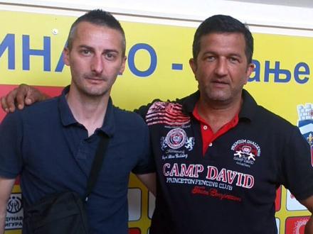 Nebojša Stajić Sose i Dejan Osmanović Kaleja FOTO: FK Radnički