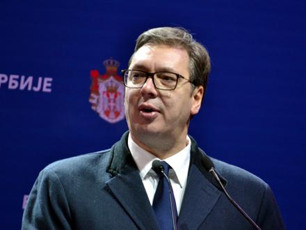 Vučiću orden Eparhije vranjske Prepodobni Prohor Pčinjski FOTO: G. Mitić/OK Radio