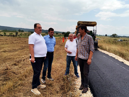 Pešić i Protić u obilasku radova FOTO: vranje.org.rs
