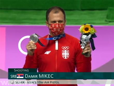 Dair MIkec sa olimpijskim srebrom FOTO: RTS/Screenshot