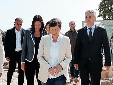 Premijerka prilikom posete Vranje FOTO: D. Ristić/OK Radio