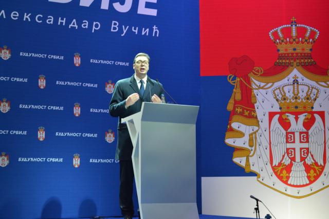 Miting predsednika Srbije Aleksandra Vučića Budućnost Srbije
