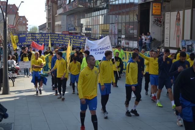 Protest fudbalera Dinama. April 2019.