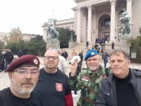 Ratni veterani ispred Skupštine