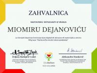 Miomir Dejanović MiDej, priznanja za altruizam, herojsko delo i entuzijazam