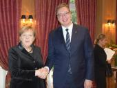 Vučić s Merkelovom, teme - od evrointegracija do KiM