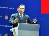 VUČIĆ U VRANJU: Ovde ste došli zbog budućnosti Srbije! (FOTO, VIDEO)