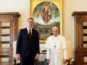 Vučić: Voleo bih da papa poseti Srbiju, ali za to je potrebna saglasnost SPC
