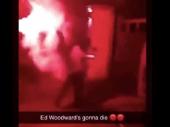Bakljama na kuću direktora Junajteda, strašna poruka Edu Vudvordu: Umrećeš! (video)